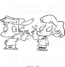 Small Picture Boy And Girl Playing Coloring Page Coloring Coloring Pages