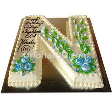 Letter Shape Birthday Cake Special Cake Cake For Kids Cakes With
