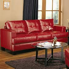 Furniture Excellent Red Leather Sofa By Ashley Furniture Austin