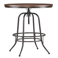 iron industrial furniture. Shop Berwick Iron Industrial Round 36 - 42-inch Adjustable Counter-height  Table By INSPIRE Q Classic Free Shipping Today Overstock.com 10996562 Iron Industrial Furniture U