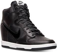 black leather wedge sneakers nike dunk sky hi essential sneakers from finish line