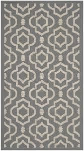 mykonos multipurpose indoor outdoor rug 78 x 152 cm anthracite beige
