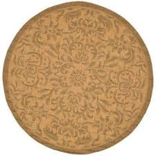 courtyard natural gold 7 ft x 7 ft indoor outdoor round area