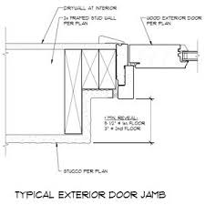 door jamb detail plan. Brilliant Detail Exterior Door Jamb Detail To Plan Pinterest