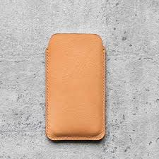 iphone x natural genuine leather sleeve pouch case the earthy handmade phone cases i