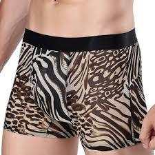 <b>mens leopard</b> printing <b>sexy</b> net yarn <b>underwear</b> breathable mid rise ...