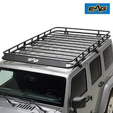 eag 07 18 jeep wrangler jk 4 door full length roof rack cargo basket