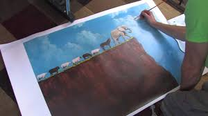 doing hand embellished prints from your original paintings by tim gagnon