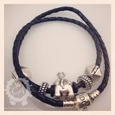 pandora black leather