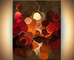 abstract giclee print on canvas on wall art red dot with painting modern geometric abstract giclee print 9158