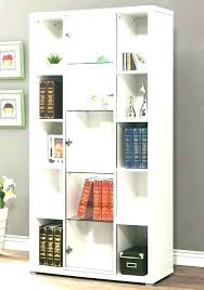 corner bookcase with door black tall narrow bookshelf doors bookshelves glass metal bookca