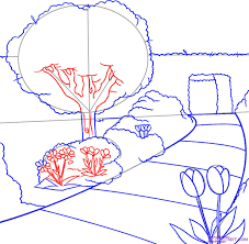 Small Picture How to Draw a Garden Step by Step Landscapes Landmarks Places