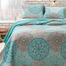 Buy Aqua Twin Quilt from Bed Bath & Beyond & Awake Shapur Spheres Twin Quilt Set in Aqua Adamdwight.com