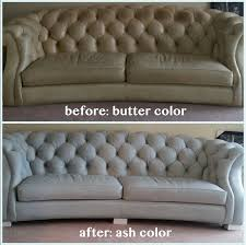tufted leather furniture changed from tan to ash gray