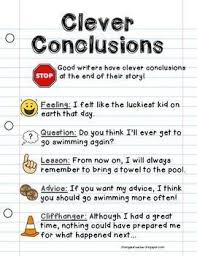 conclusion writing sentences poster writing anchor chart  conclusion writing sentences poster writing anchor chart