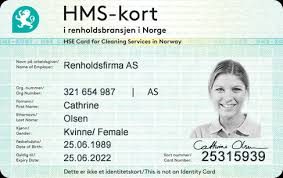 Hse The Card As Jobbkort Id Cleaning Industry For