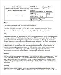Critical Incident Report Form Barca Fontanacountryinn Com