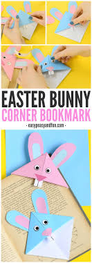 easy easter crafts for two year olds. easter bunny corner bookmark - diy origami for kids easy crafts two year olds