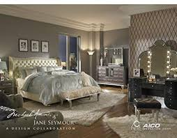 Amazon.com: Hollywood Swank Standard King Pearl Bedroom Set By Aico ...