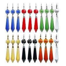 10 colors chandelier glass crystal lighting lamp prisms parts drops pendant 55mm