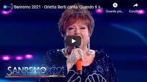 Orietta berti with quando ti sei innamorato from sanremo 2021 in italy: Orietta Berti Canta Quando Ti Sei Innamorato A Sanremo 2021 Video Gazzetta Del Sud