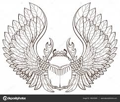 скарабей тату скарабей татуировки векторное изображение