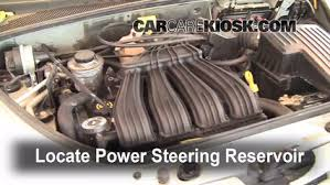 follow these steps to add power steering fluid to a chrysler pt follow these steps to add power steering fluid to a chrysler pt cruiser 2001 2010 2007 chrysler pt cruiser limited 2 4l 4 cyl