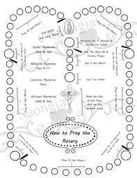Small Picture How to Pray the Rosary Coloring Page PDF by SaongJai on Etsy
