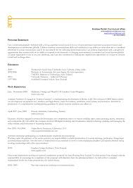 Personal Statement And Resume Carey School Business Sample Home