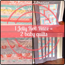 Project Pinterest: One Jelly Roll Race Quilt = Two Baby Quilts ... & The Amateur Librarian // One Jelly Roll Race = Two Baby Quilts … Adamdwight.com