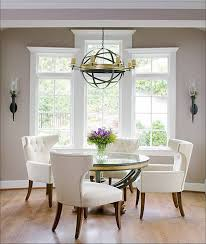 round dining room tables white clean
