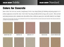 Davis Concrete Color Chart Single Concrete Color Card Davis Colors