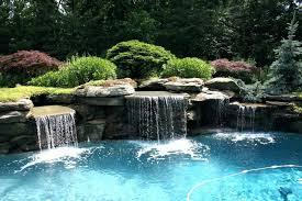 inground pool waterfalls. Inground Pools With Waterfalls Pool Slides For Waterfall Plant Ideas Water .