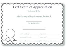 Template Printable Company Appreciation Certificate Template Of