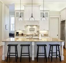 Kücheninsel Beleuchtung Modern Weiss Glas Pendellampen Hocker