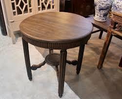 n 2024 wooden elm wood art deco round table 1