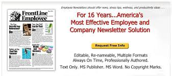Examples Of Company Newsletters Employee Newsletter Examples