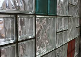 coloured glass blocks window