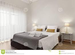 Helle Schlafzimmer Reihe Stockfoto Bild Von Leuchte 84890704