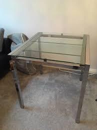 ikea glivarp extendable glass chrome dining table now 45