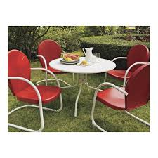 crosley griffith metal outdoor patio dining set 5 pc