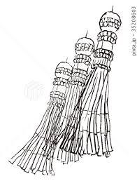 七夕 手描き 水彩画のイラスト素材 35208603 Pixta