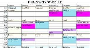 create college class schedule standard yet versatile template for college schedule