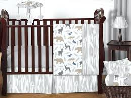 baby boy deer bedding unique gray forest animal deer bear neutral baby boy bedding crib set