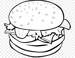 fast food clipart black and white. Interesting White Hamburger Fast Food Cheeseburger Chicken Sandwich Clip Art   Cliparts Transparent And Food Clipart Black White D