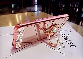 mirror iphone 7 plus case. amazon.com: black lemon hui-41 iphone 7 plus case, luxury crystal rhinestone soft rubber bumper bling diamond glitter mirror makeup case with ring stand iphone i
