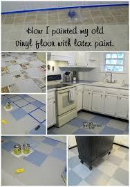 myrepurposedlife how to paint vinyl floor