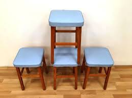 retro kitchen stool with steps image of retro kitchen step stool blue retro kitchen step stool