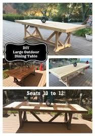 oversized outdoor dining table. diy large outdoor dining table - seats 10-12 oversized
