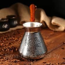 <b>Турка</b> для кофе медная «Виноград» 0,6 л, цена 29.50 руб., купить ...